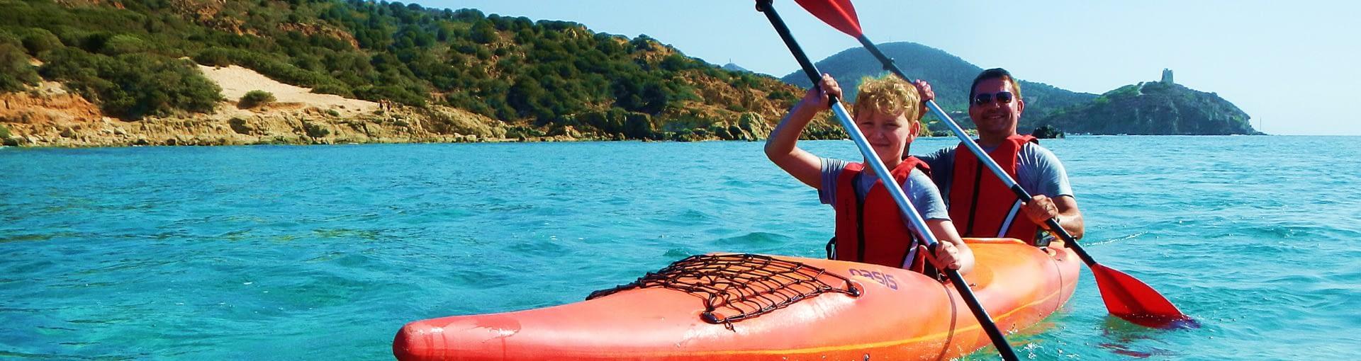 Kayaktour am Meer