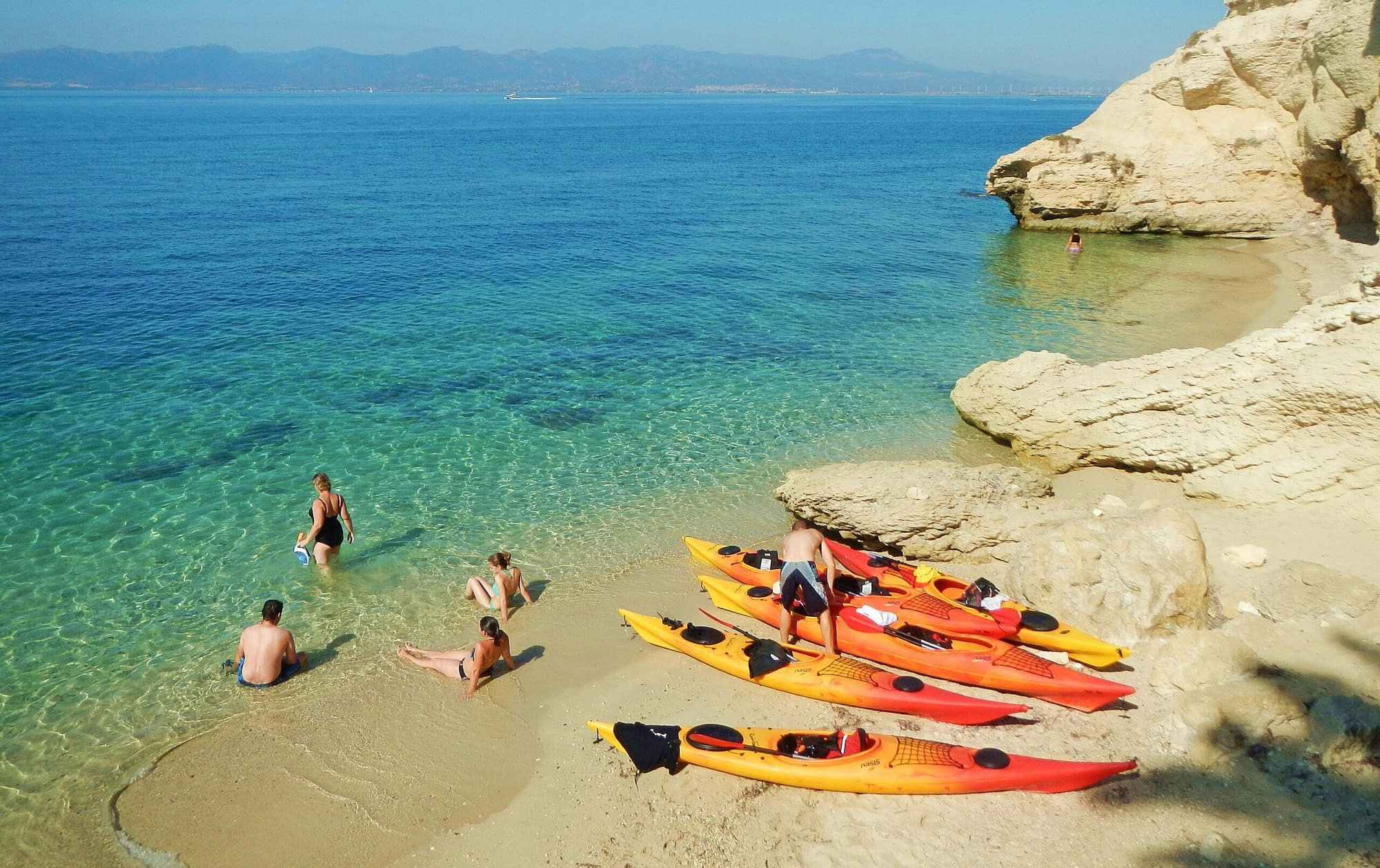 Kayak in Sardinia Tours and Curses